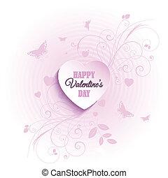 kwiatowy, dzień, tło, valentine