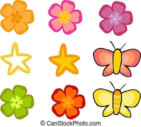 kwiatowy, graficzny, elementy