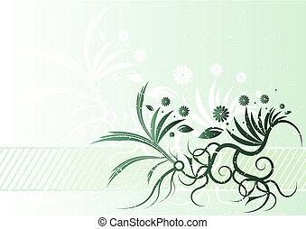 kwiatowy, grunge, tło