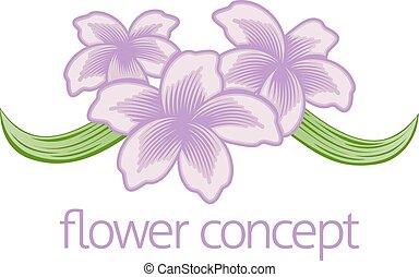 kwiatowy, kwiaciarka, kwiat, ikona
