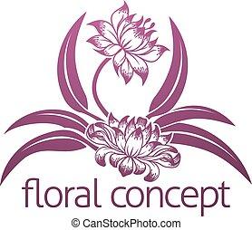 kwiatowy, kwiat, projektować