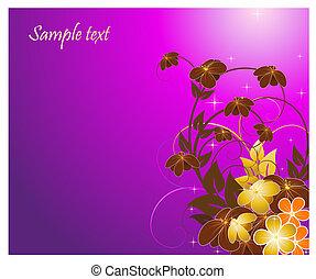 kwiatowy, kwiaty, tło