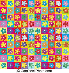 kwiatowy, opakowanie papier, seamless, próbka