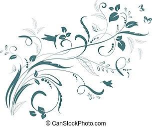 kwiatowy, ozdoba, projektować, twój