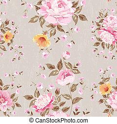 kwiatowy, pattern., seamless