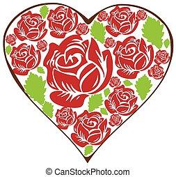 kwiatowy, serce