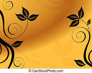 kwiatowy, tło., abstrakcyjny, vector.