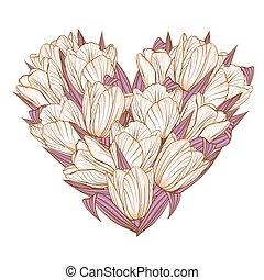 kwiatowy, tulipany, kwiaty, tło