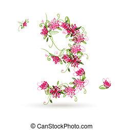 kwiatowy, twój, projektować, liczba trójca