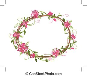 kwiatowy, ułożyć, dla, twój, projektować