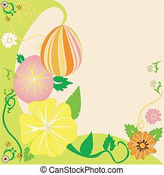 kwiatowy, wielkanoc, 2, jajko, tło