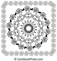 kwiatowy wzór, abstrakcyjny, arabeska
