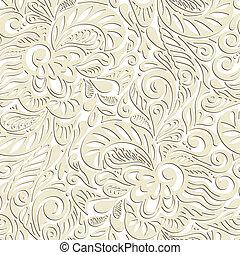 kwiatowy wzór, abstrakcyjny, seamless, kędzierzawy