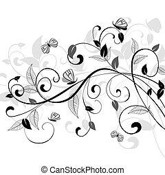 kwiatowy wzór, abstrakcyjny