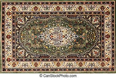 kwiatowy wzór, arabszczyzna, kilim