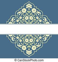 kwiatowy wzór, card., zaproszenie
