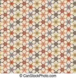 kwiatowy wzór, geometryczny
