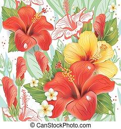 kwiatowy wzór, malwa, seamless