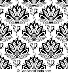 kwiatowy wzór, paisley, seamless