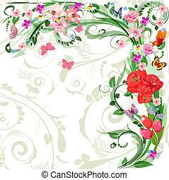 kwiatowy wzór, projektować, twój