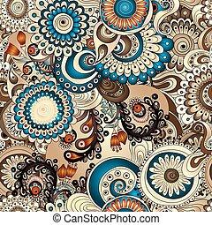 kwiatowy wzór, seamless, ogórki, doodles
