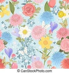 kwiatowy zamiar, seamless, struktura, delikatny