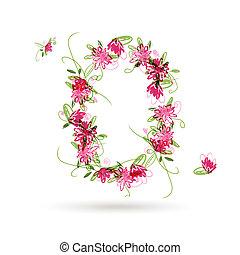 kwiatowy, zero, projektować, liczba, twój