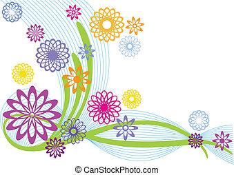 kwiaty, abstrakcyjny