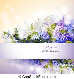 kwiaty, bez, tło