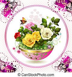 kwiaty, doniczka