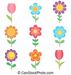 kwiaty, komplet