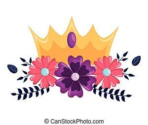 kwiaty, korona, luksus