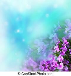 kwiaty, na, abstrakcyjny, tło