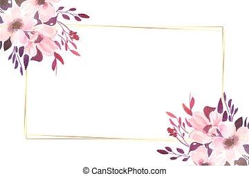 kwiaty, przestrzeń, dekoracyjny, piękny, tekst, tło