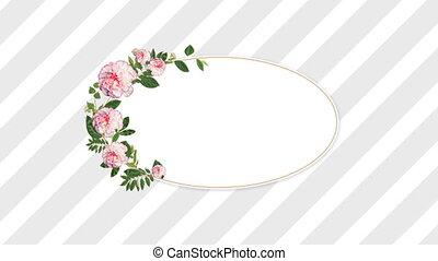 kwiaty, różowy, ładny, bańka, mowa