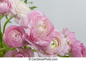 kwiaty, sztuka, design., ślub, święto, karta