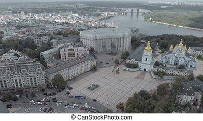 kyiv., étranger, ukraine., vue, ministère, affaires, aérien