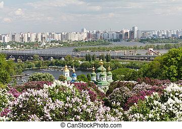 Kyiv Botanical Garden in spring