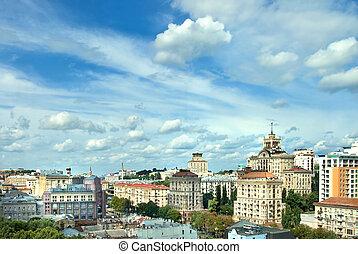 Kyiv center cityscape