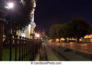 Kyiv Pechersk Lavra at night