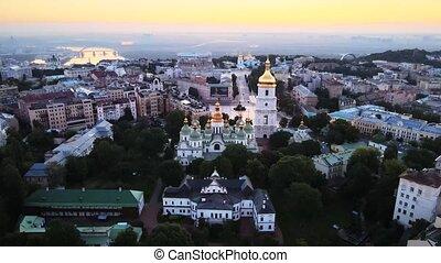 St. Sophia Church in the morning at dawn. Kyiv. Ukraine.
