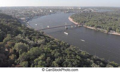 Kyiv, Ukraine. Podil District. Aerial view