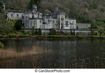Kylemore Abbey (Irish: Mainistir na Coille Móire) is a Benedictine monastery founded in 1920 on the grounds of Kylemore Castle, in Connemara, County Galway, Ireland. The abbey was founded for Benedictine Nuns who fled Belgium in World War I.