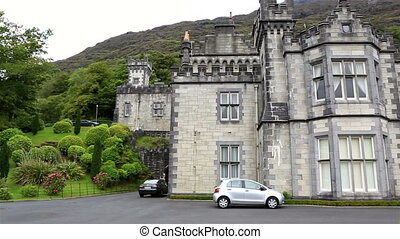 Kylemore Abbey. National park Connemara in Ireland.