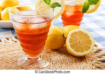 kylig, sommar, drycken
