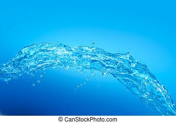 kylig, vatten, wave.