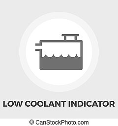 kylmedel, indikator, låg, lägenhet, ikon