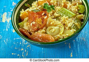 Lebanese vegetable dish - Kymali Pirasa Yemegi - Lebanese ...