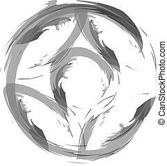 kyokushinkai, karate, kanku, -, logotipo