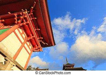 Kyomizu Temple in Winter Season kyoto Japan. built in 1633, ...